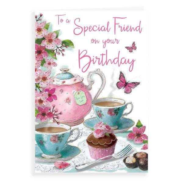 Birthday Card Friend, Teapot