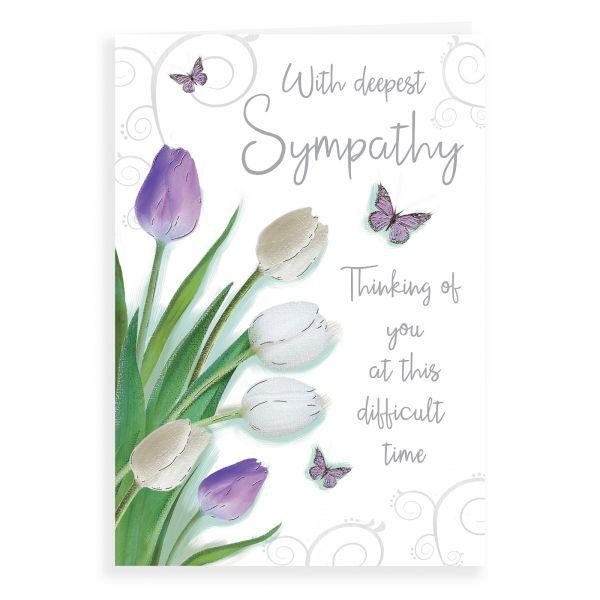 Sympathy Card, Tulips