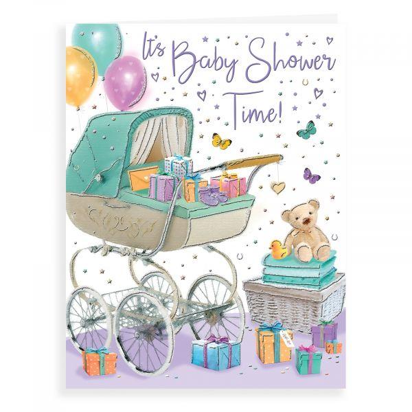 Baby Card Baby Shower, Pram