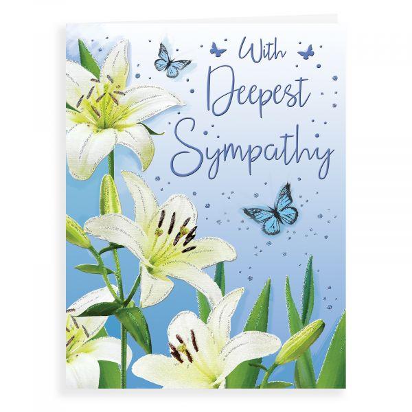 Sympathy Card, Lilies