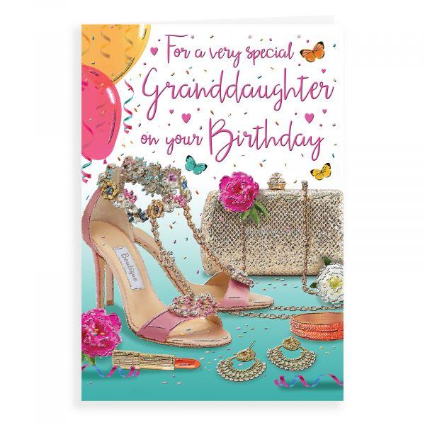 Birthday Card Granddaughter, Shoes & Handbag