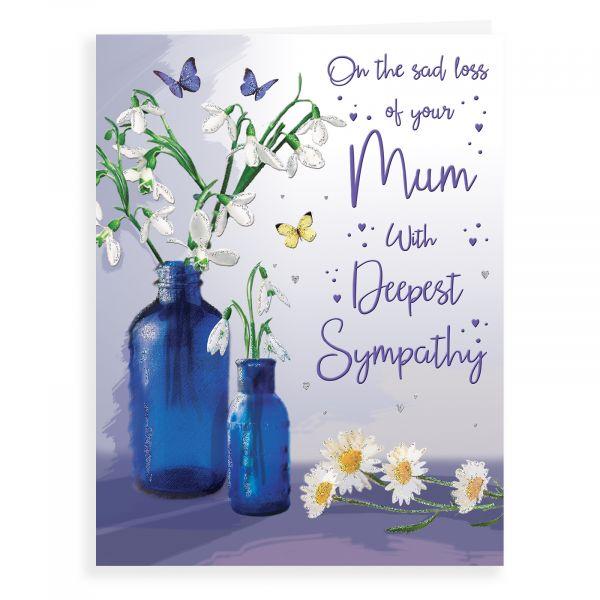 Sympathy Card Mum, Snowdrops