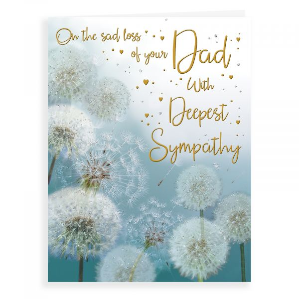 Sympathy Card Dad, Dandelion