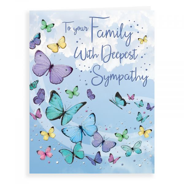 Sympathy Card Family, Butterflies