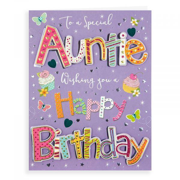 Birthday Card Auntie, Cupcakes