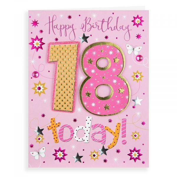 Birthday Card Age 18 F, Butterflies