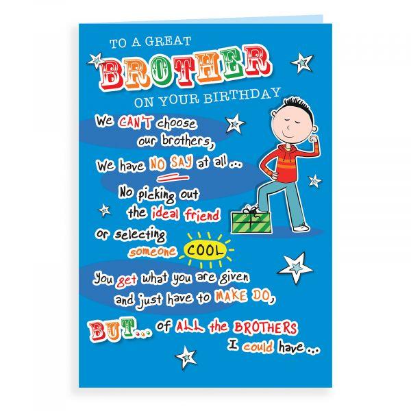 Birthday Card Brother, Boy Present