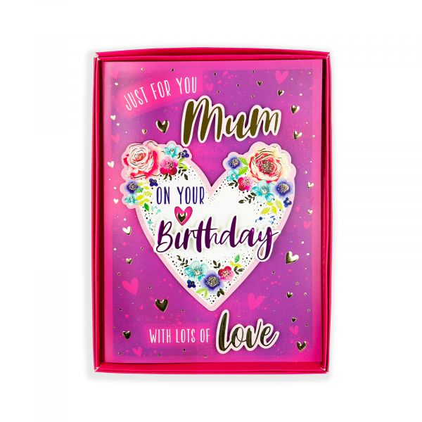 Birthday Boxed Card Mum, Heart