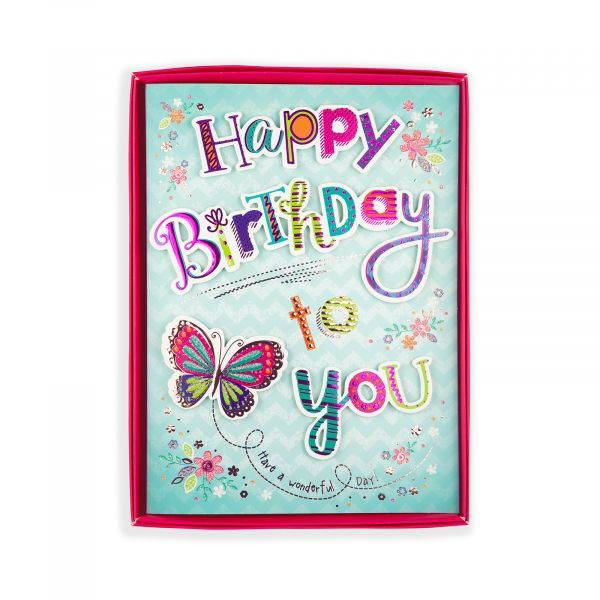 Birthday Boxed Card Birthday, Butterfly