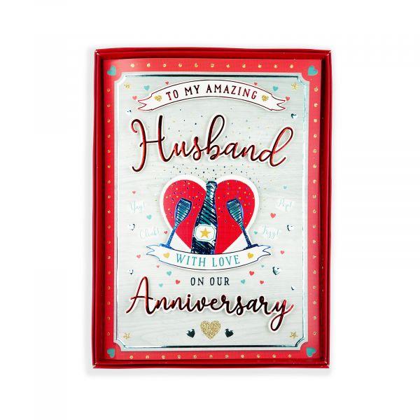 Birthday Boxed Card Anniversary Husband