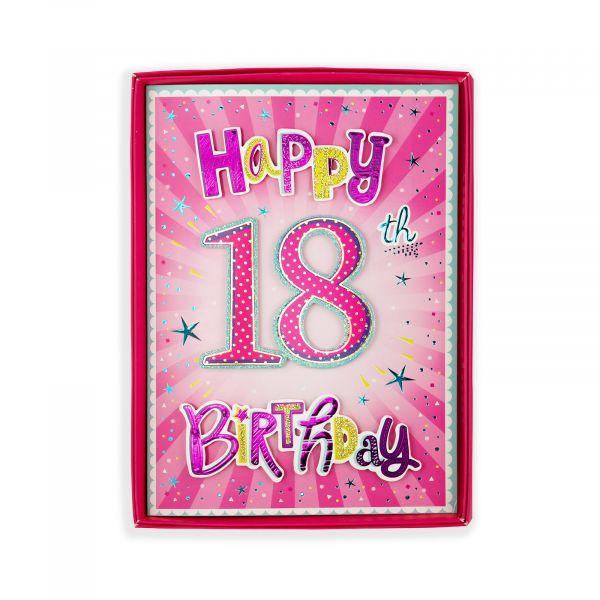 Birthday Boxed Card Age 18