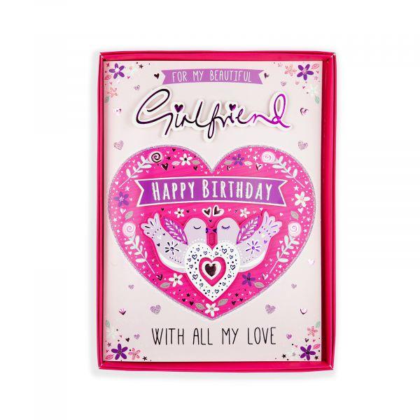 Birthday Boxed Card Girlfriend