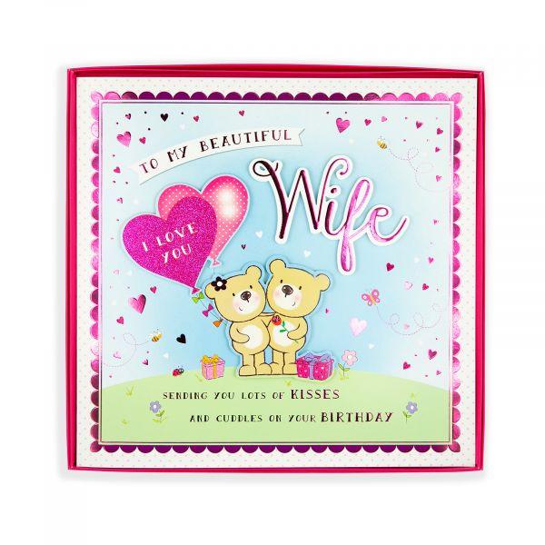 Birthday Boxed Card Wife, Bear Couple