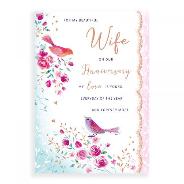 Anniversary Card Wife, Birds