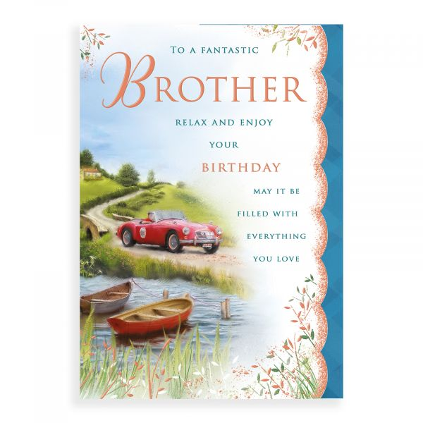Birthday Card Brother, Car And Boats