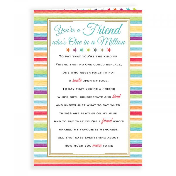 Birthday Card Friend, Stripes