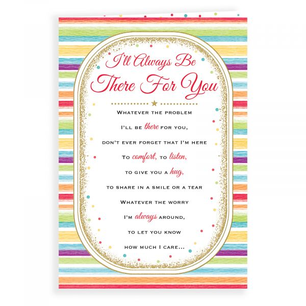Thinking of You Card I'll Always Be There, Stripes