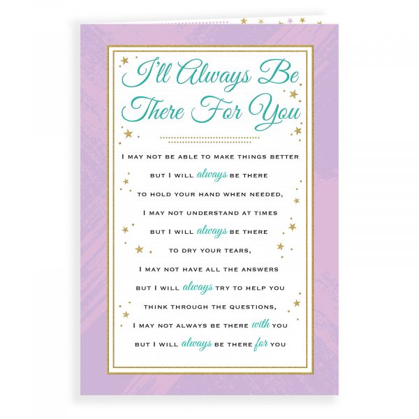 Thinking of You Card I'll Always Be There, Text Framed