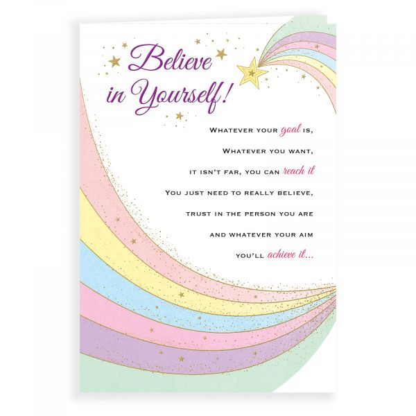 Thinking of You Card Believe in Yourself
