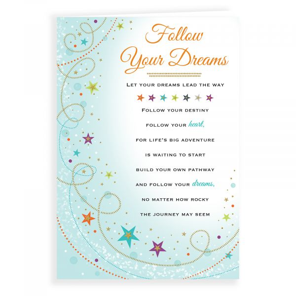 Thinking of You Card Follow your Dreams