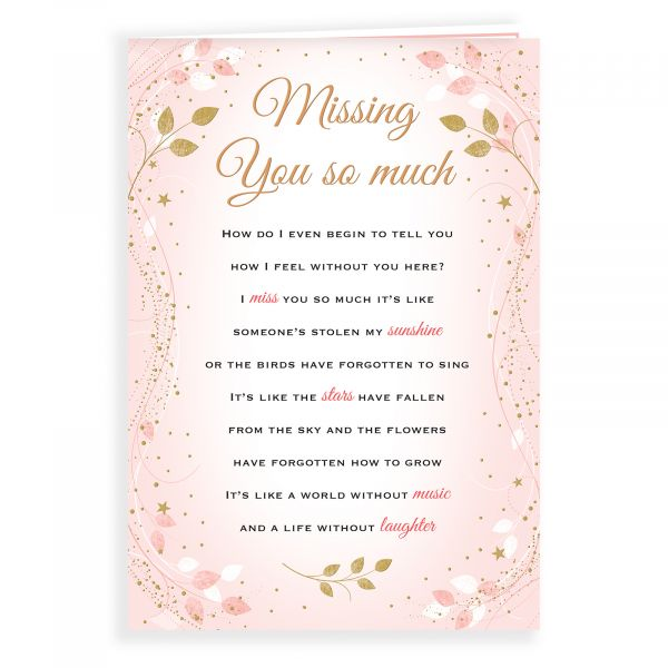 Thinking of You Card Missing You