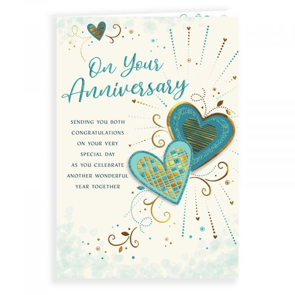 Anniversary Card Your, 2 Hearts