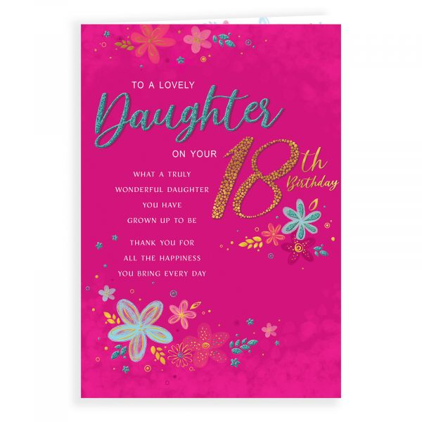 Birthday Card Age 18 Daughter