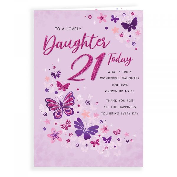 Birthday Card Age 21 Daughter