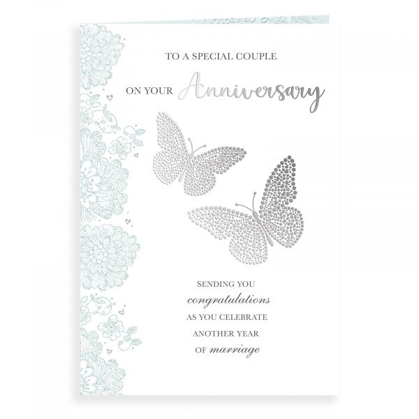 Anniversary Card Your, Two Butterflies
