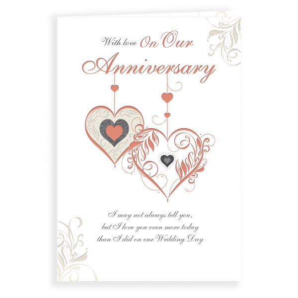 Anniversary Card Our, Two Hearts