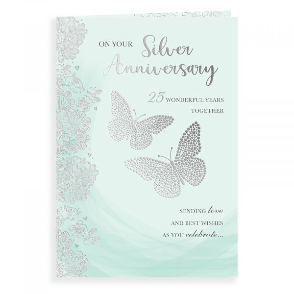 Anniversary Card Silver Your