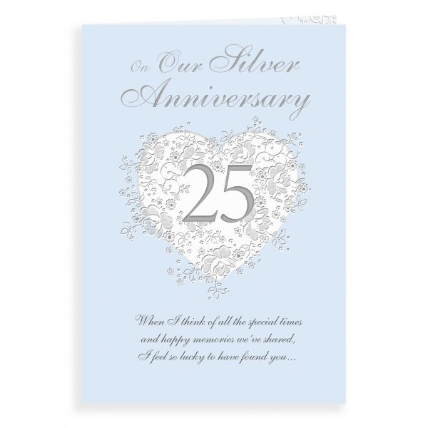 Anniversary Card Silver Our
