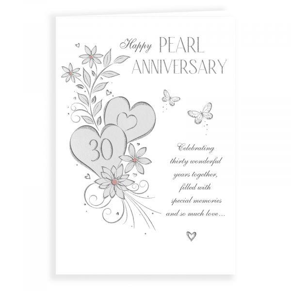 Anniversary Card Pearl