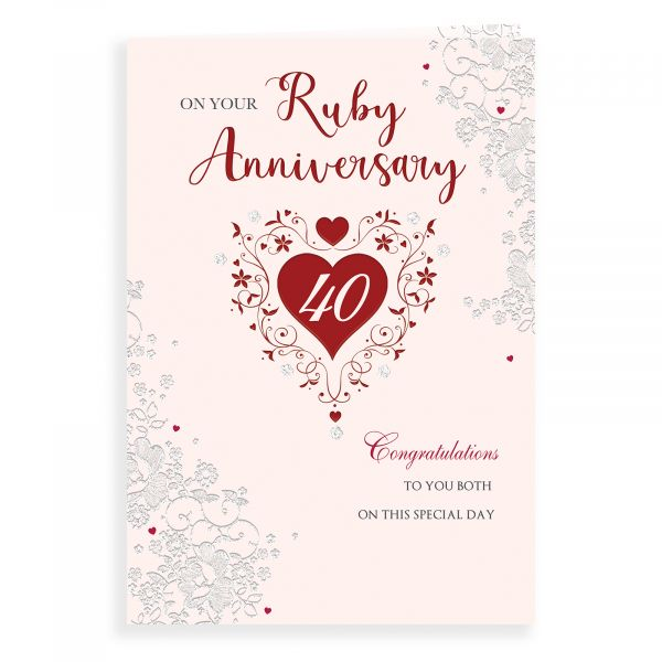 Anniversary Card Ruby Your