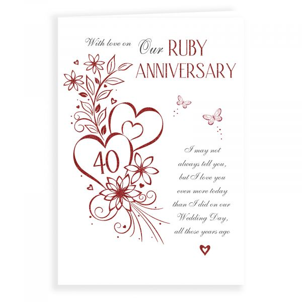Anniversary Card Ruby Our