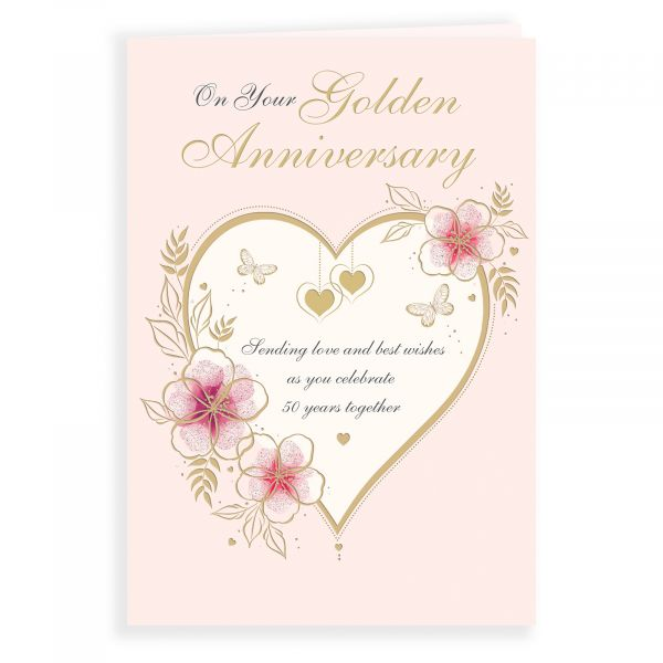 Anniversary Card Golden Your