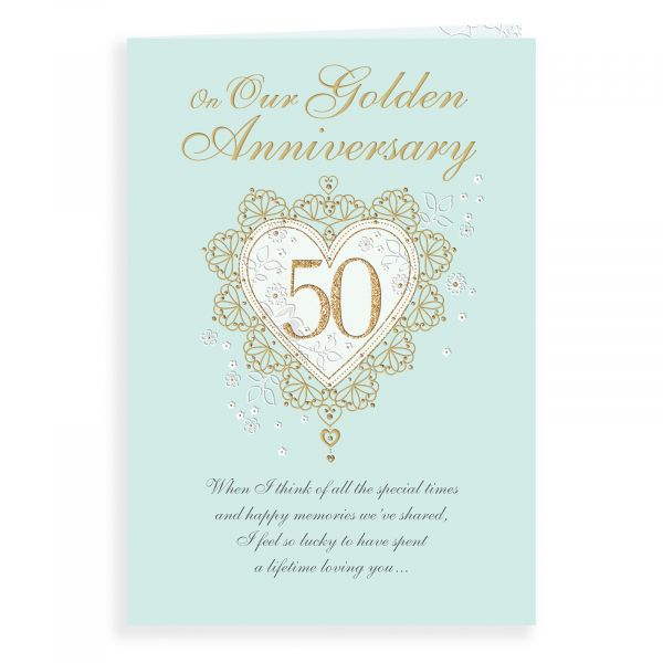 Anniversary Card Golden Our