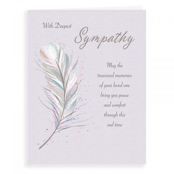 Sympathy Card, Feather