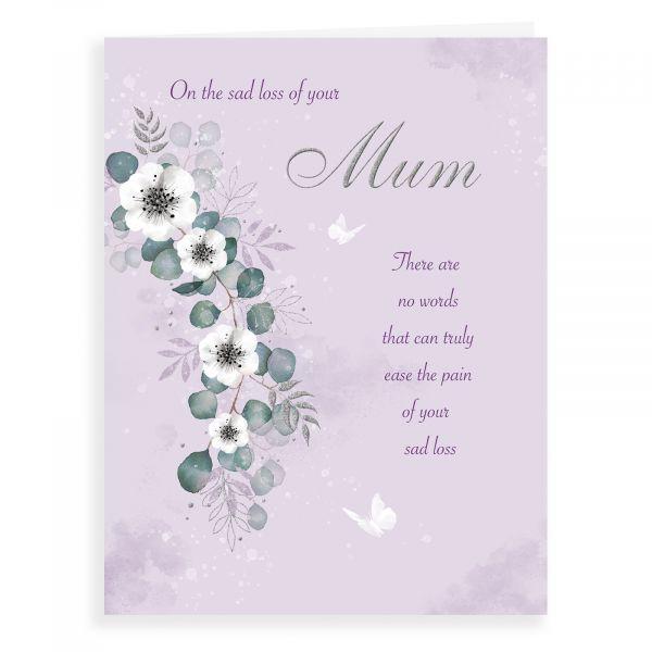 Sympathy Card Mum, Floral Branch