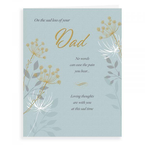 Sympathy Card Dad, Dandelion Eternal