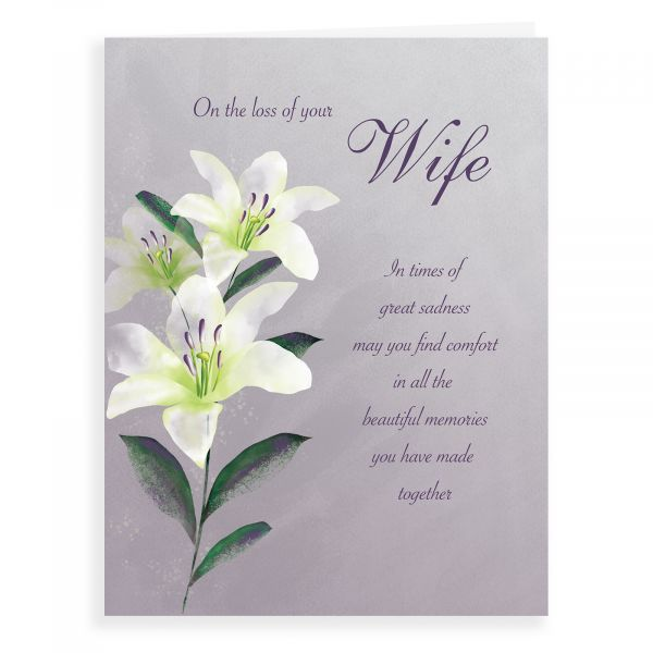 Sympathy Card Wife, Liles