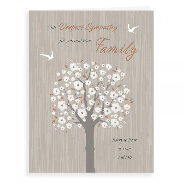 Sympathy Card Family, Blossom Tree