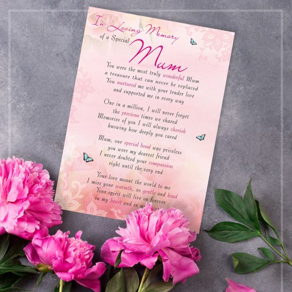 Memorial Graveside Card Mum