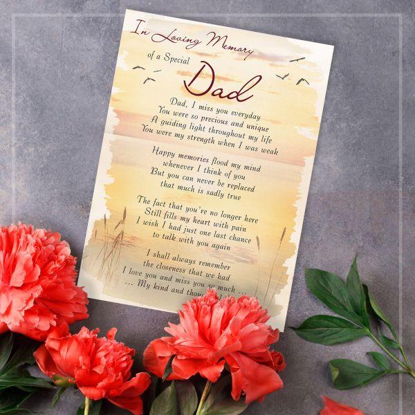 Memorial Graveside Card Dad