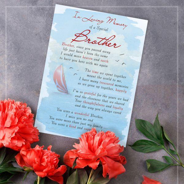 Memorial Graveside Card Brother