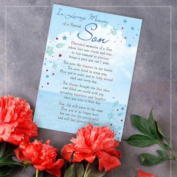 Memorial Graveside Card Son