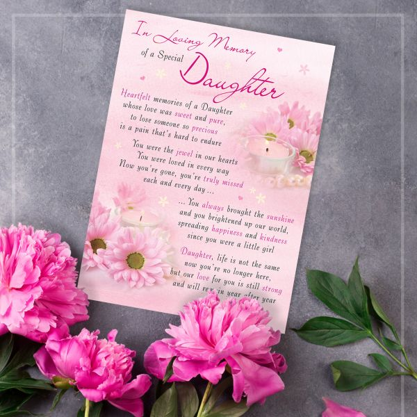Memorial Graveside Card Daughter