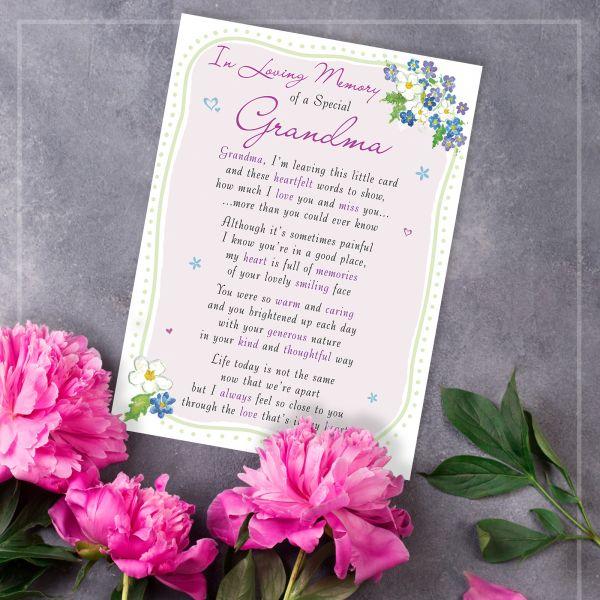 Memorial Graveside Card Grandma