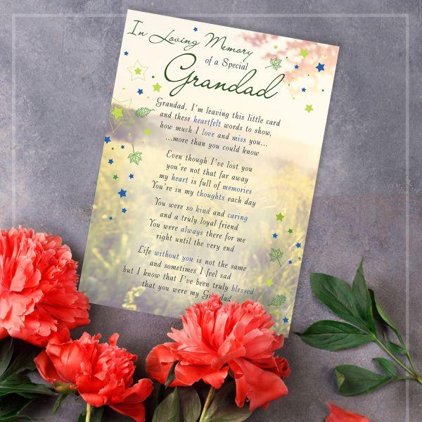 Memorial Graveside Card Grandad