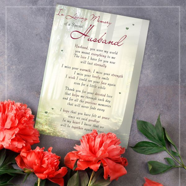 Memorial Graveside Card Husband